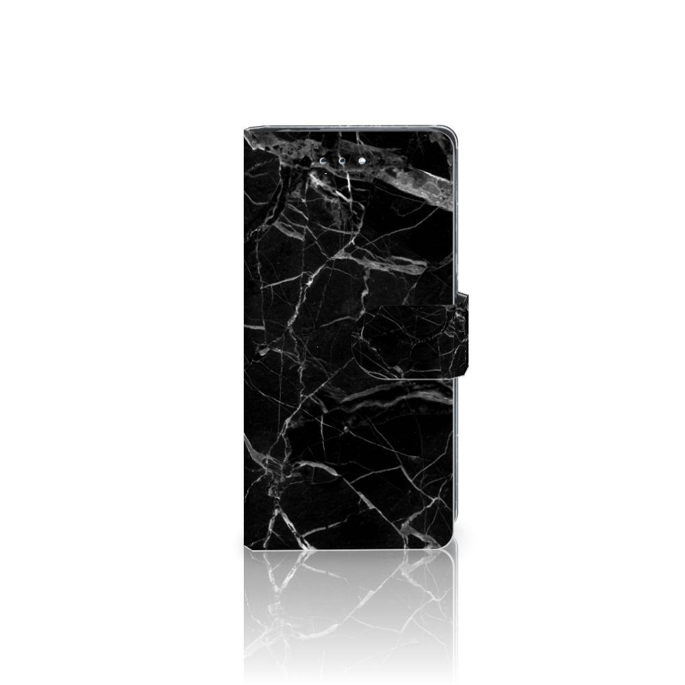 Huawei P9 Uniek Boekhoesje Marmer Zwart