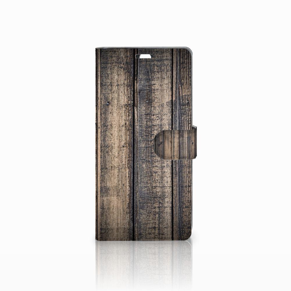 Sony Xperia C5 Ultra Boekhoesje Design Steigerhout