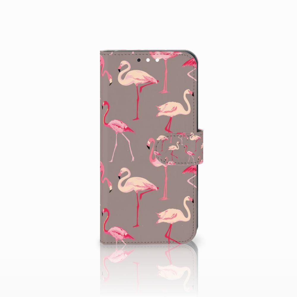 Huawei Mate 10 Lite Uniek Boekhoesje Flamingo