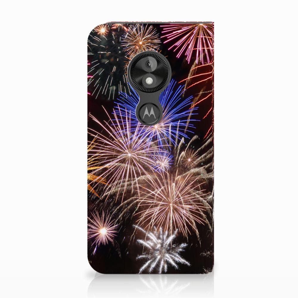 Motorola Moto E5 Play Standcase Hoesje Design Vuurwerk