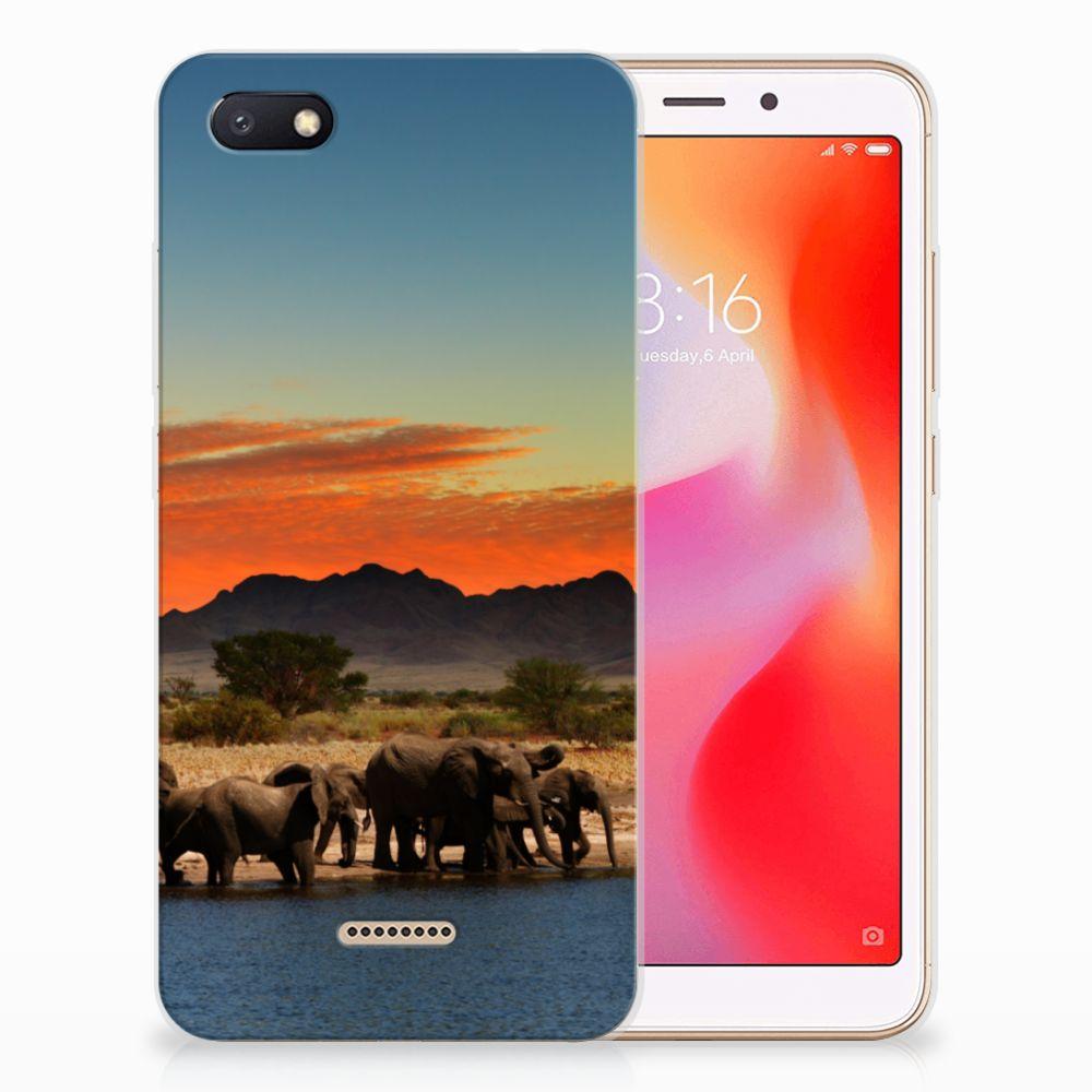 Xiaomi Redmi 6A TPU Hoesje Olifanten