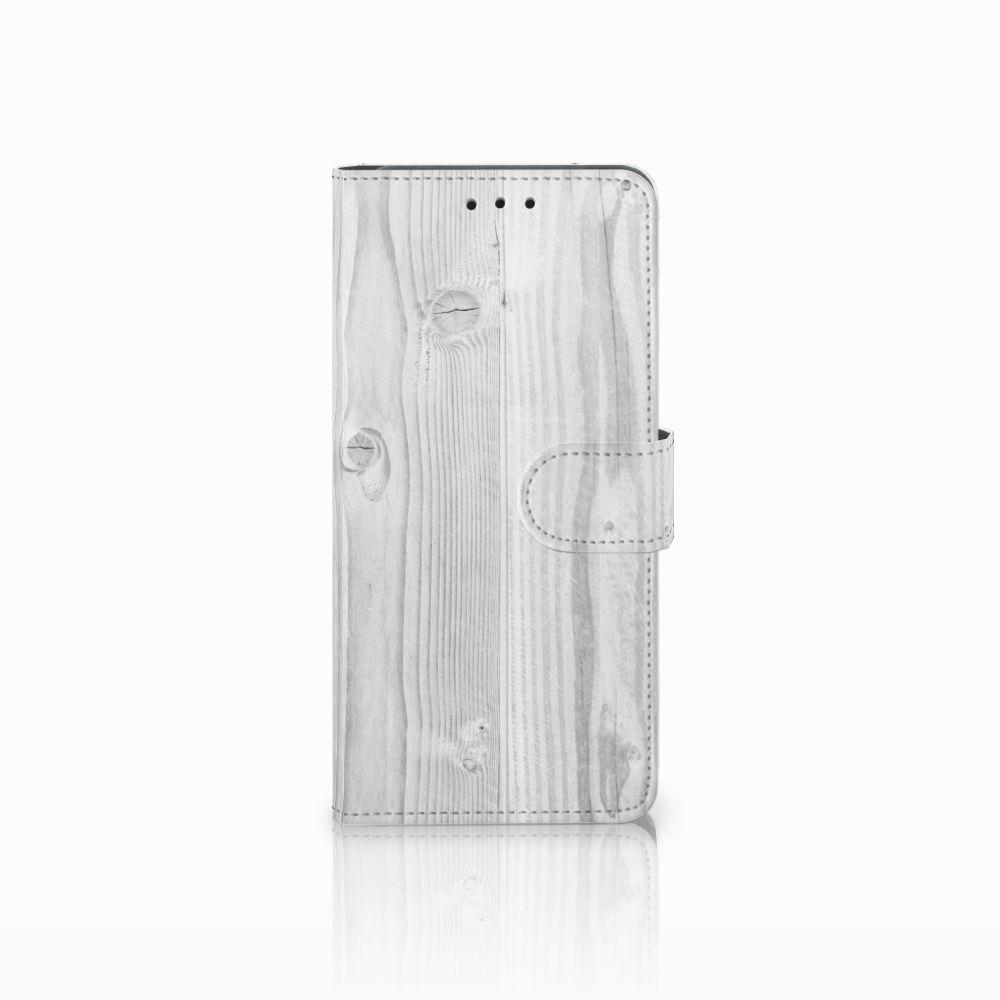 Huawei Mate 20 Pro Boekhoesje Design White Wood