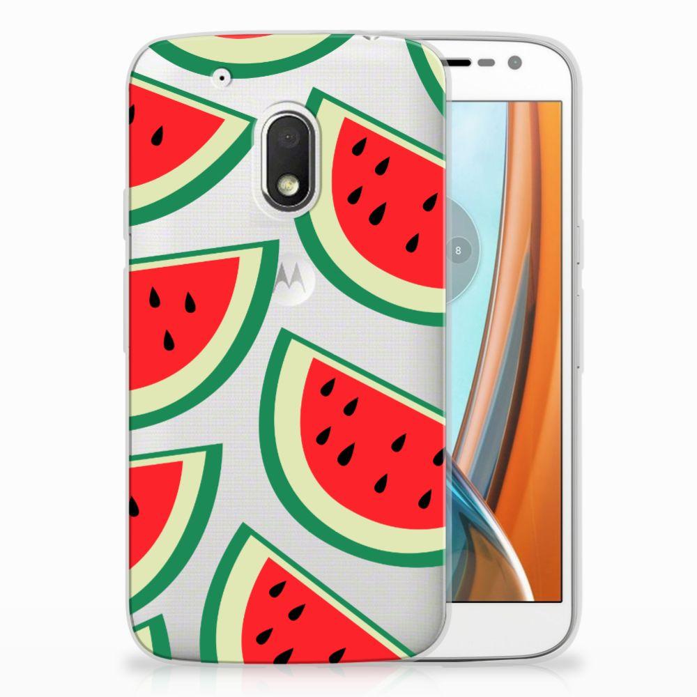 Motorola Moto G4 Play Siliconen Case Watermelons