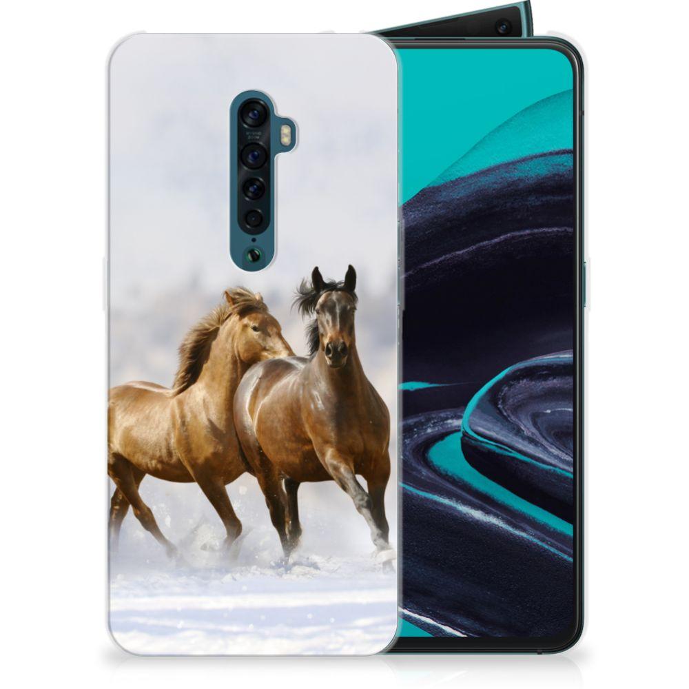 OPPO Reno 2 TPU Hoesje Paarden