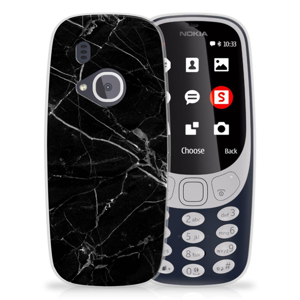 Nokia 3310 (2017) TPU Siliconen Hoesje Marmer Zwart