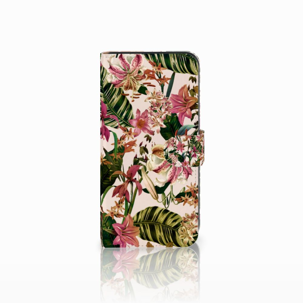 Samsung Galaxy E7 Uniek Boekhoesje Flowers