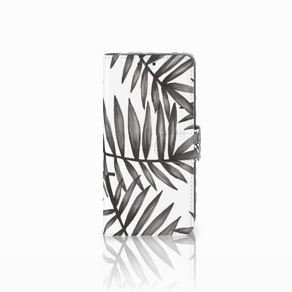 HTC U11 Life Uniek Boekhoesje Leaves Grey