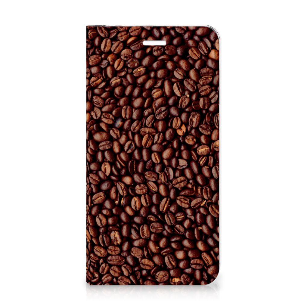 Huawei P8 Lite 2017 Flip Style Cover Koffiebonen