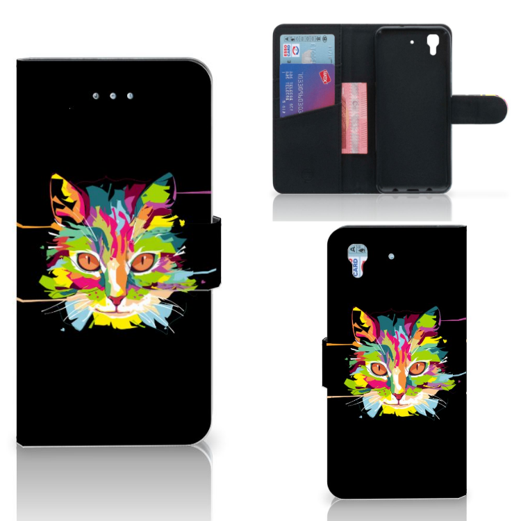 Honor 4A | Y6 Leuk Hoesje Cat Color