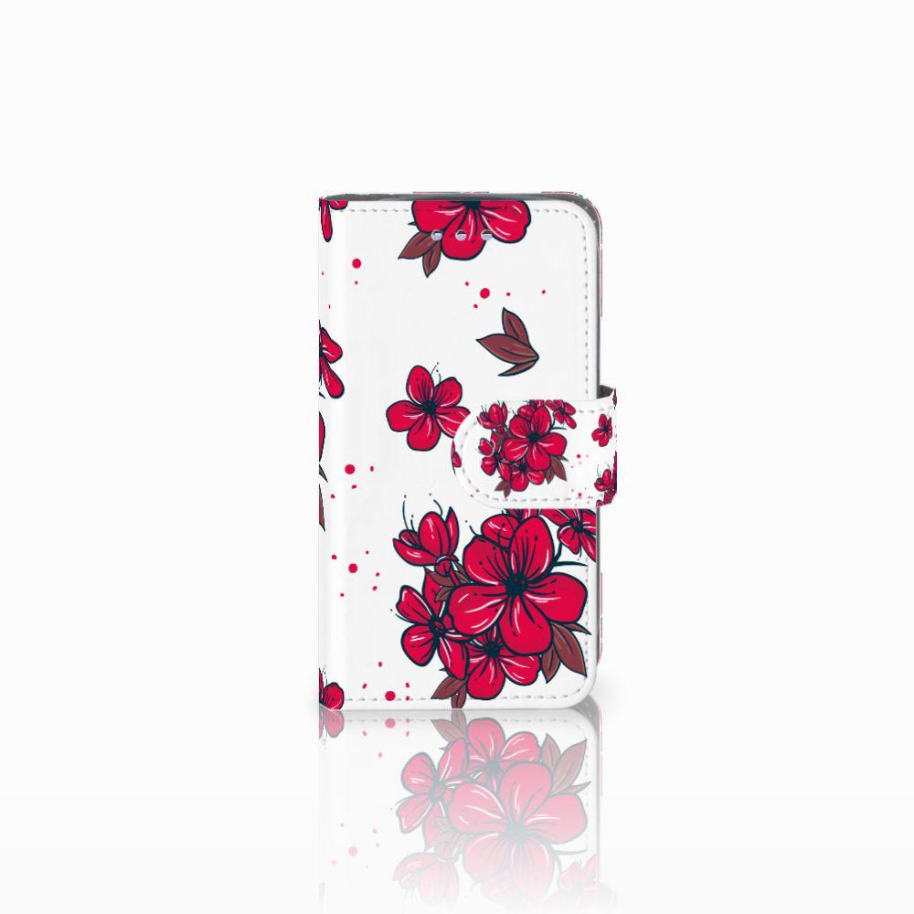 Samsung Galaxy S3 Mini Boekhoesje Design Blossom Red