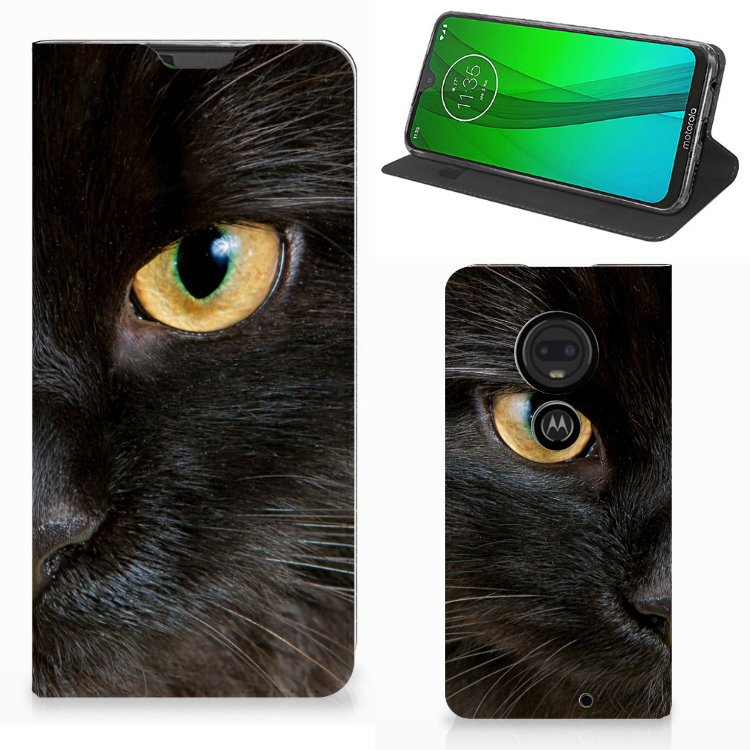Motorola Moto G7 | G7 Plus Hoesje maken Zwarte Kat