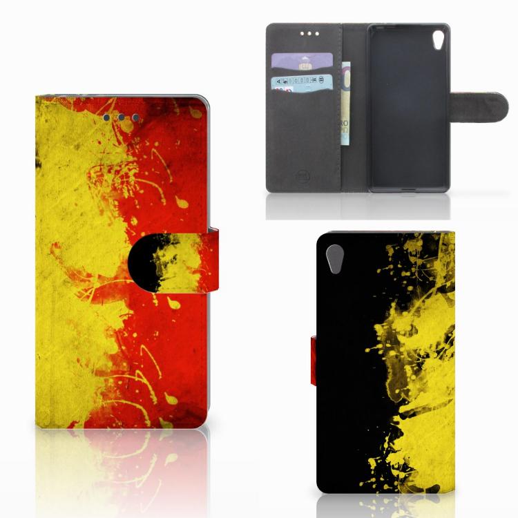 Sony Xperia E5 Bookstyle Case Belgische Vlag