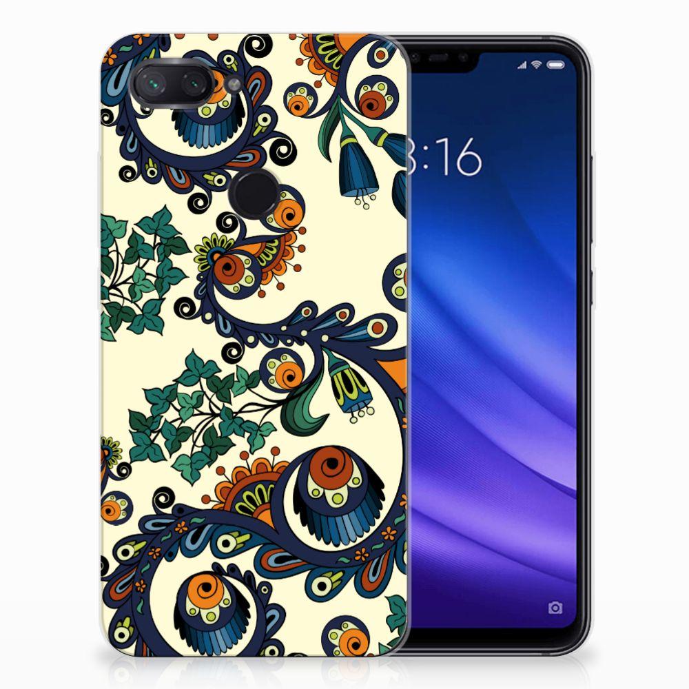 Siliconen Hoesje Xiaomi Mi 8 Lite Barok Flower