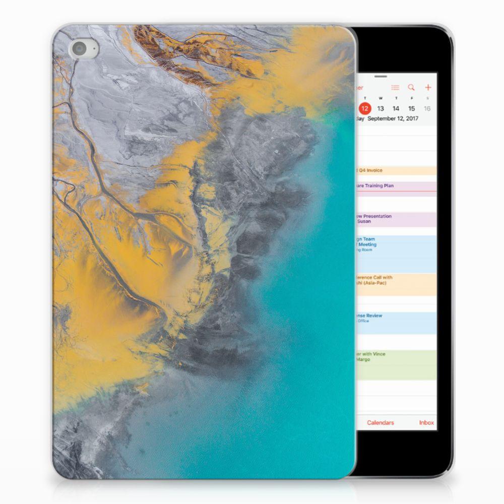 Apple iPad Mini 4 | Mini 5 (2019) Tablet Back Cover Marble Blue Gold