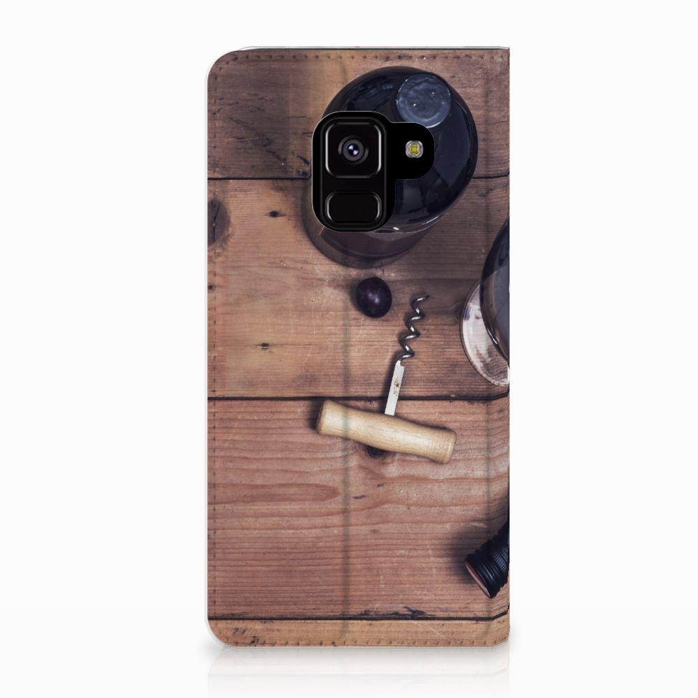 Samsung Galaxy A8 (2018) Uniek Standcase Hoesje Wijn
