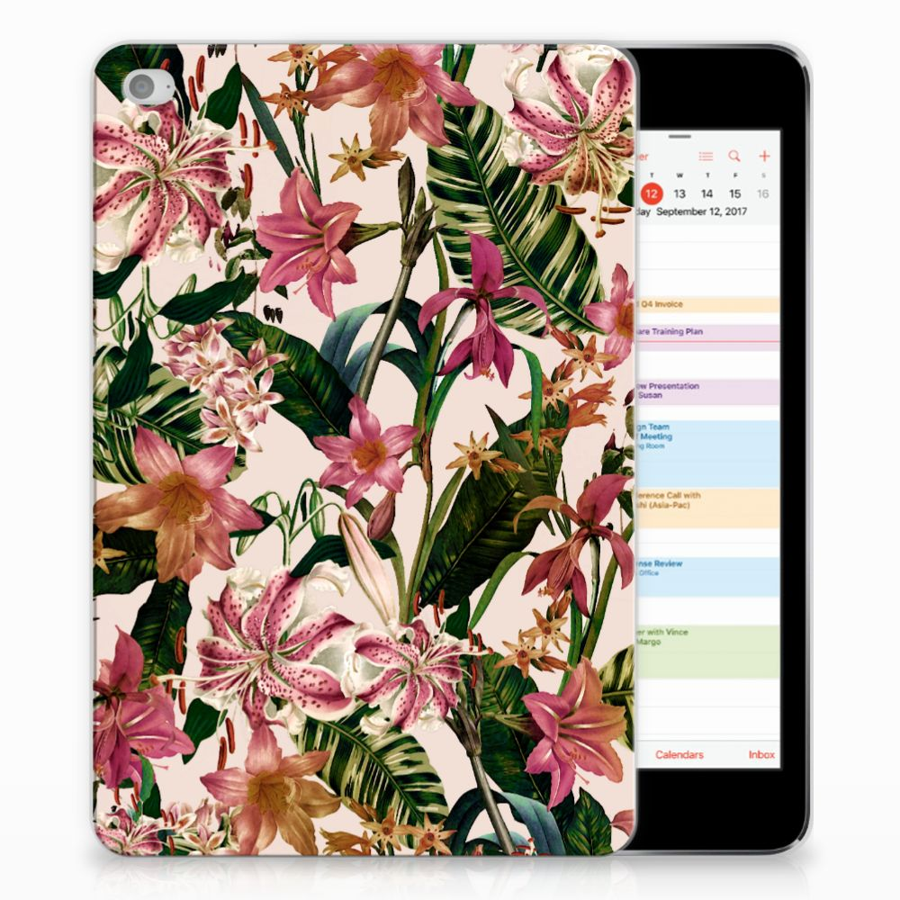 Apple iPad Mini 4 | Mini 5 (2019) Siliconen Hoesje Flowers