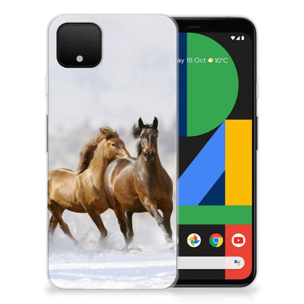 Google Pixel 4 XL TPU Hoesje Paarden