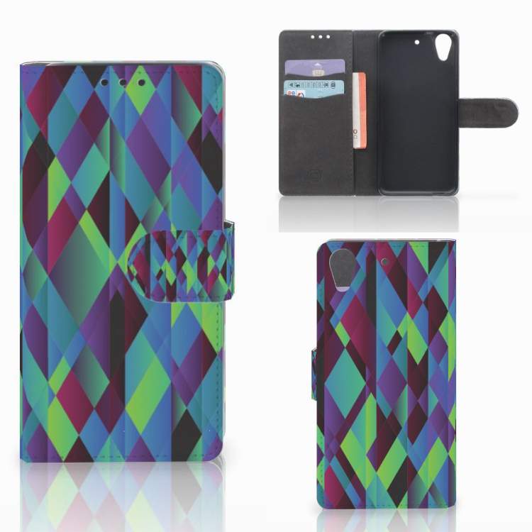 HTC Desire 626 | Desire 626s Bookcase Abstract Green Blue