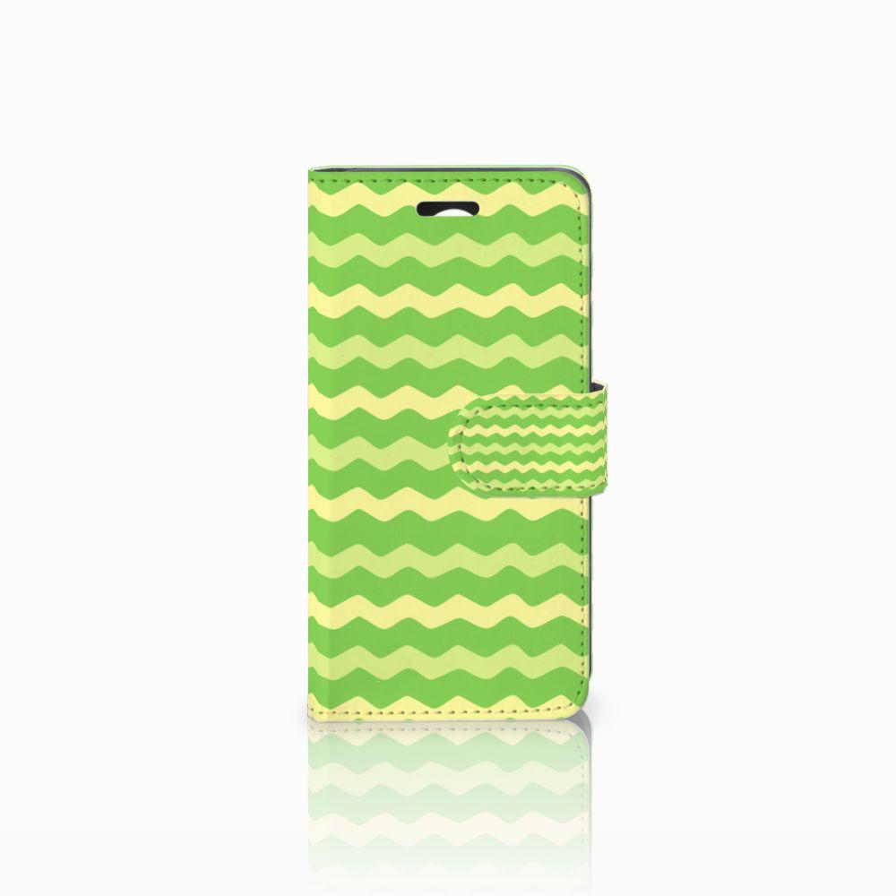 Huawei Y3 2 | Y3 II Boekhoesje Design Waves Green