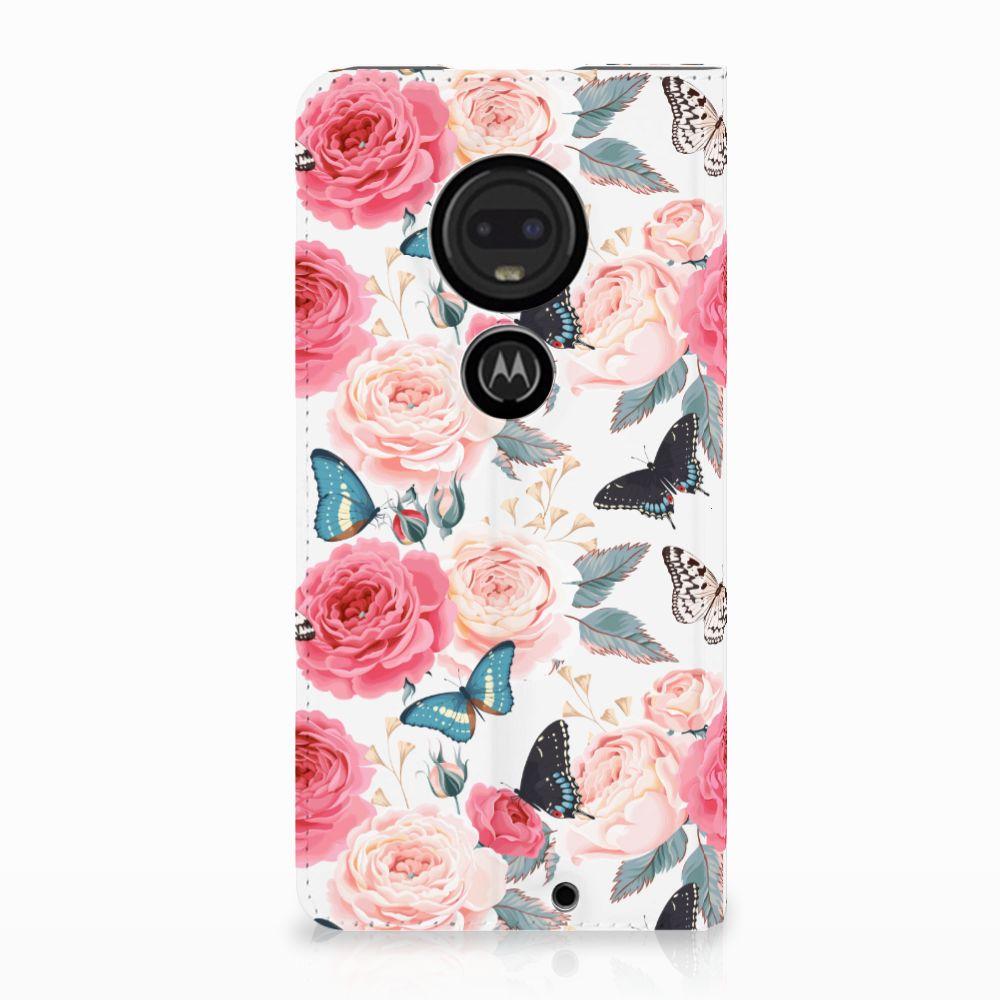 Motorola Moto G7 | G7 Plus Uniek Standcase Hoesje Butterfly Roses