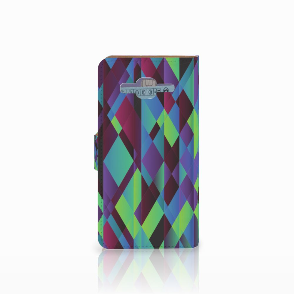 Samsung Galaxy J2 2016 Bookcase Abstract Green Blue