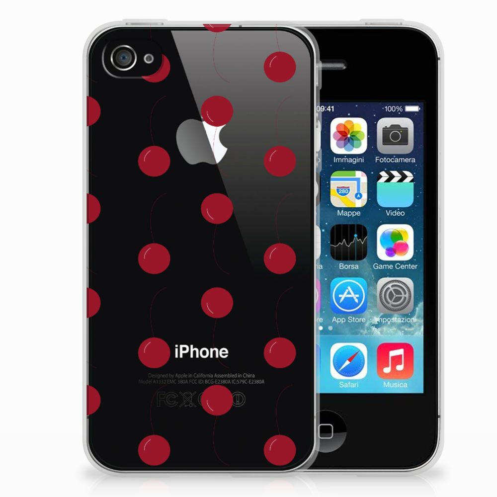 Apple iPhone 4 | 4s Siliconen Case Cherries