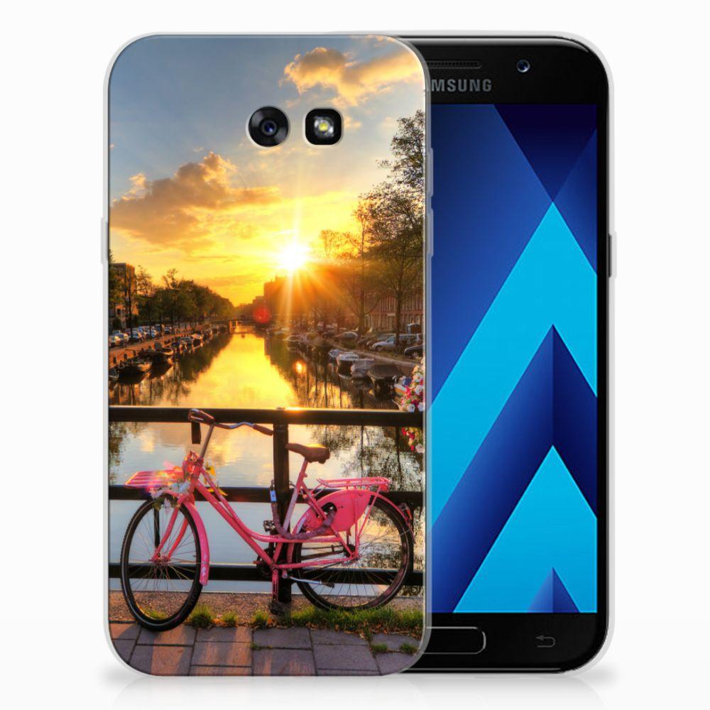 Samsung Galaxy A7 2017 Uniek TPU Hoesje Amsterdamse Grachten