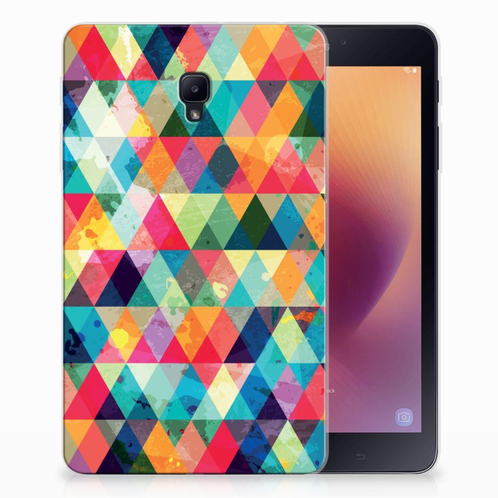 Samsung Galaxy Tab A 8.0 (2017) Uniek Tablethoesje Geruit