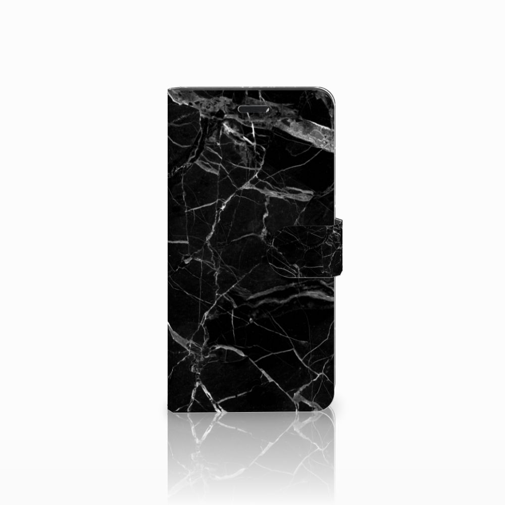 Wiko Pulp Fab 4G Uniek Boekhoesje Marmer Zwart