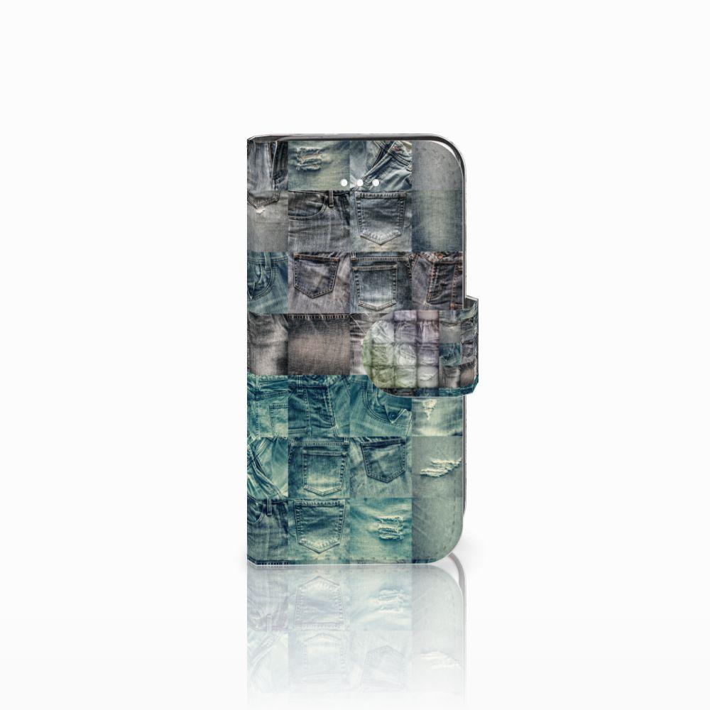 Apple iPhone 5   5s   SE Uniek Boekhoesje Spijkerbroeken