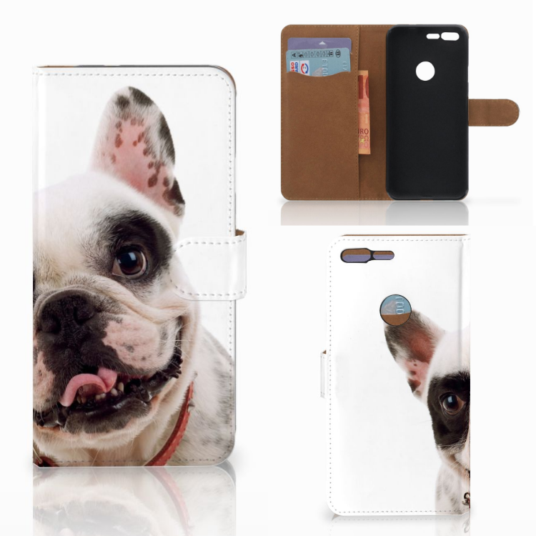 Google Pixel XL Telefoonhoesje met Pasjes Franse Bulldog