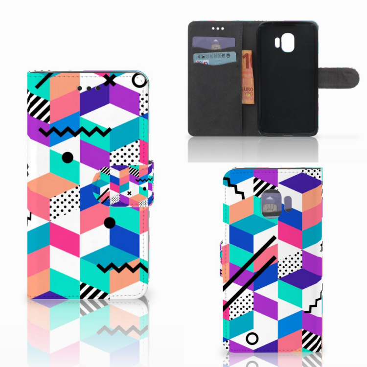 Samsung Galaxy J2 Pro 2018 Bookcase Blokken Kleurrijk