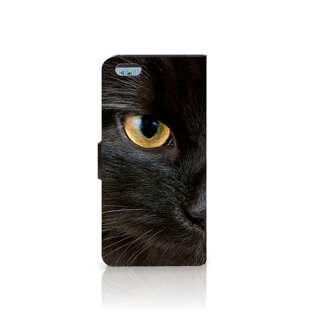 Apple iPhone 6 Plus | 6s Plus Telefoonhoesje met Pasjes Zwarte Kat