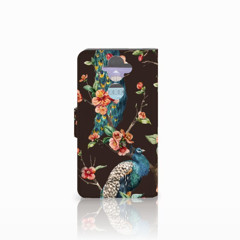 Nokia 8 Sirocco   Nokia 9 Telefoonhoesje met Pasjes Pauw met Bloemen