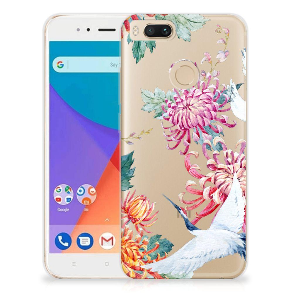Xiaomi Mi A1 TPU Hoesje Bird Flowers