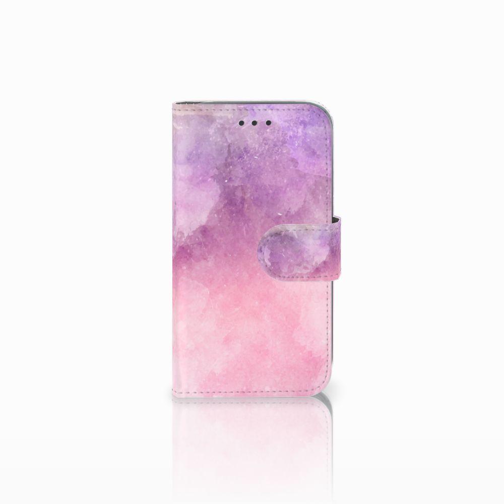 Samsung Galaxy Core Prime Boekhoesje Design Pink Purple Paint