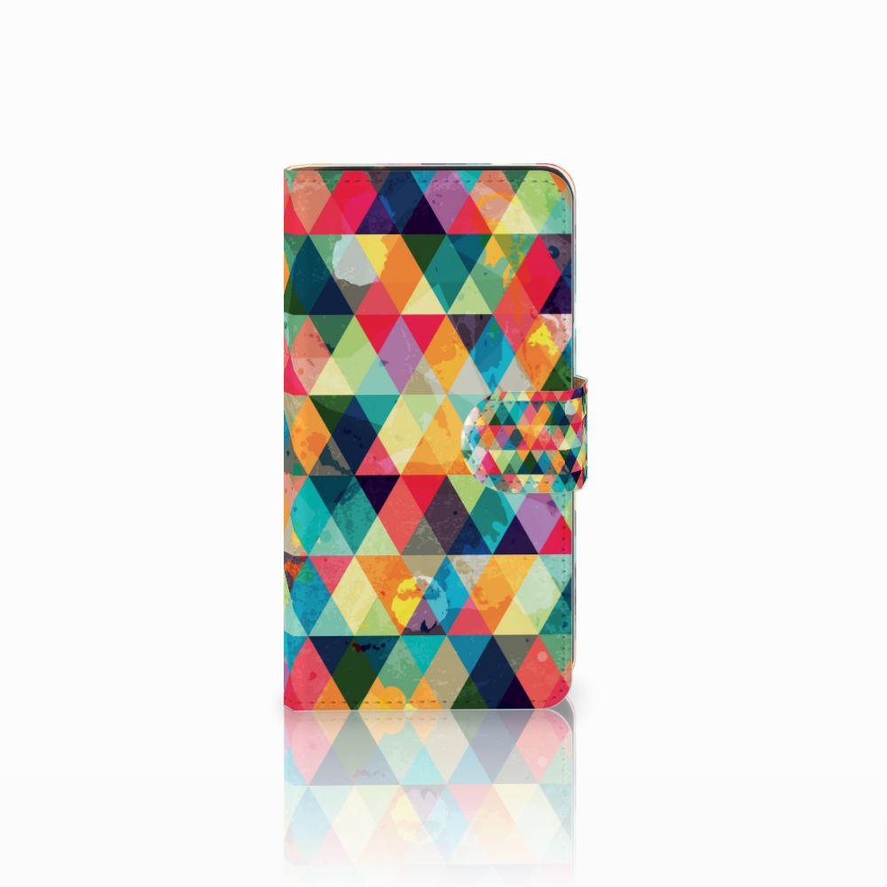 Samsung Galaxy J2 (2015) Uniek Boekhoesje Geruit