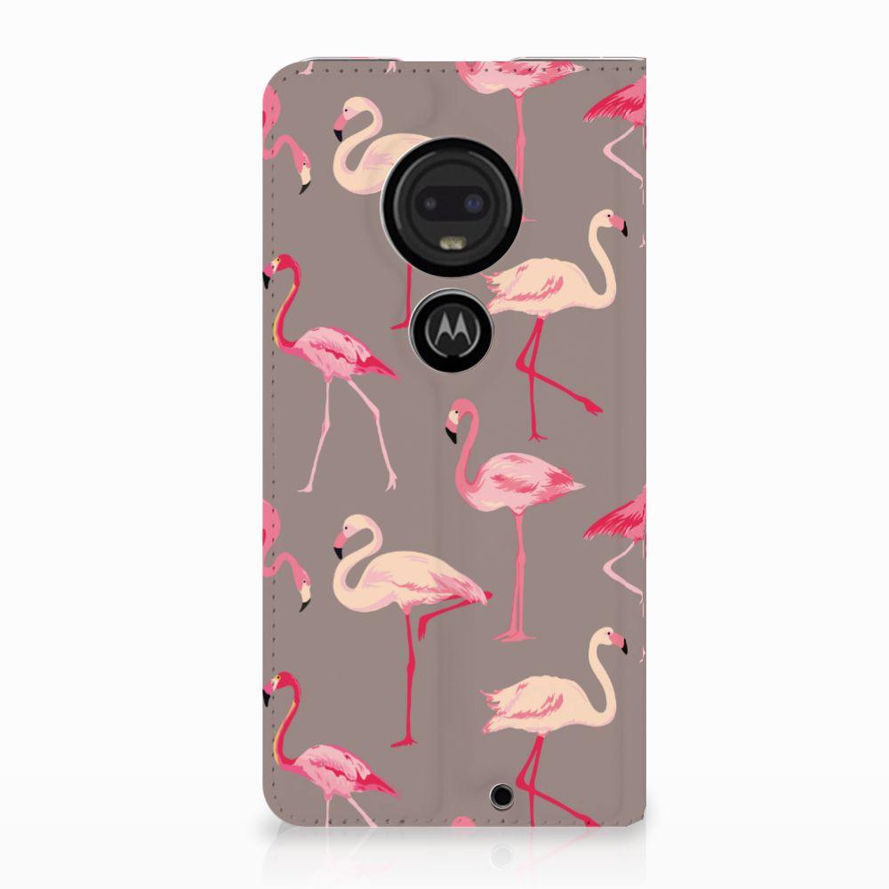 Motorola Moto G7 | G7 Plus Uniek Standcase Hoesje Flamingo