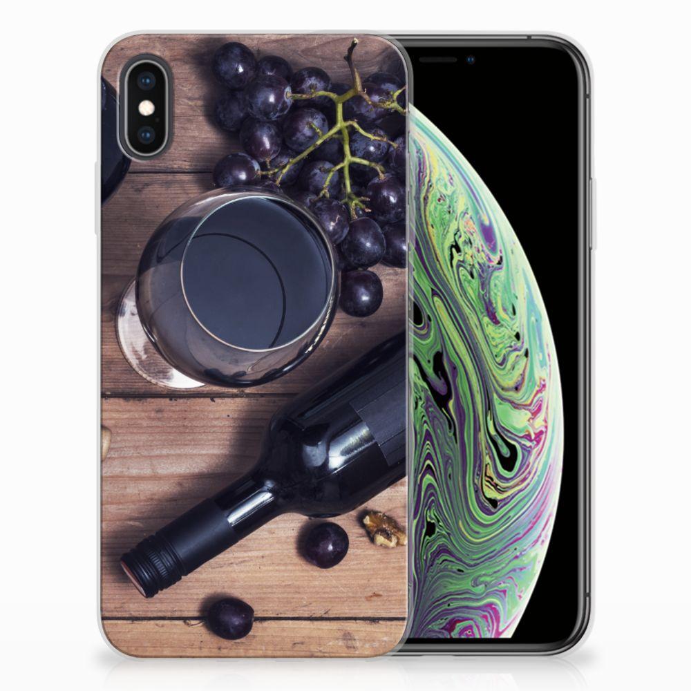 Apple iPhone Xs Max Siliconen Case Wijn