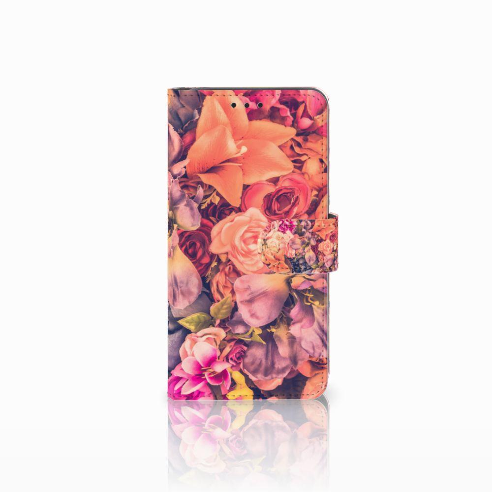 Samsung Galaxy A8 2018 Boekhoesje Design Bosje Bloemen