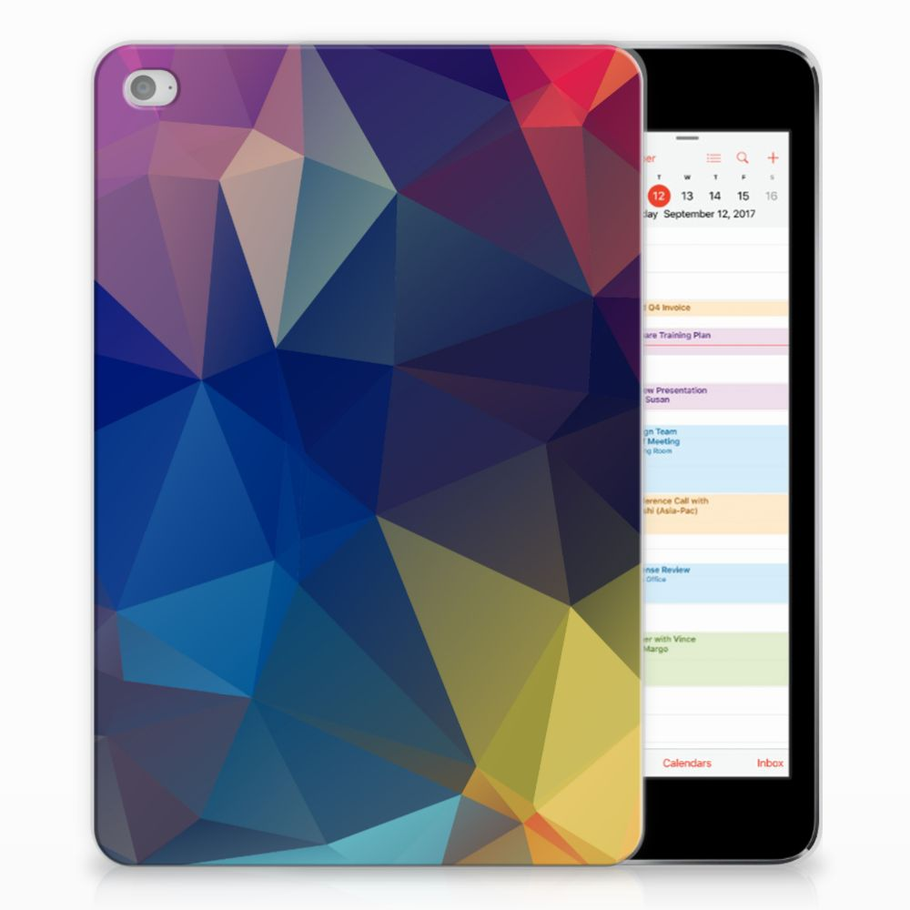 Apple iPad Mini 4   Mini 5 (2019) Back Cover Polygon Dark