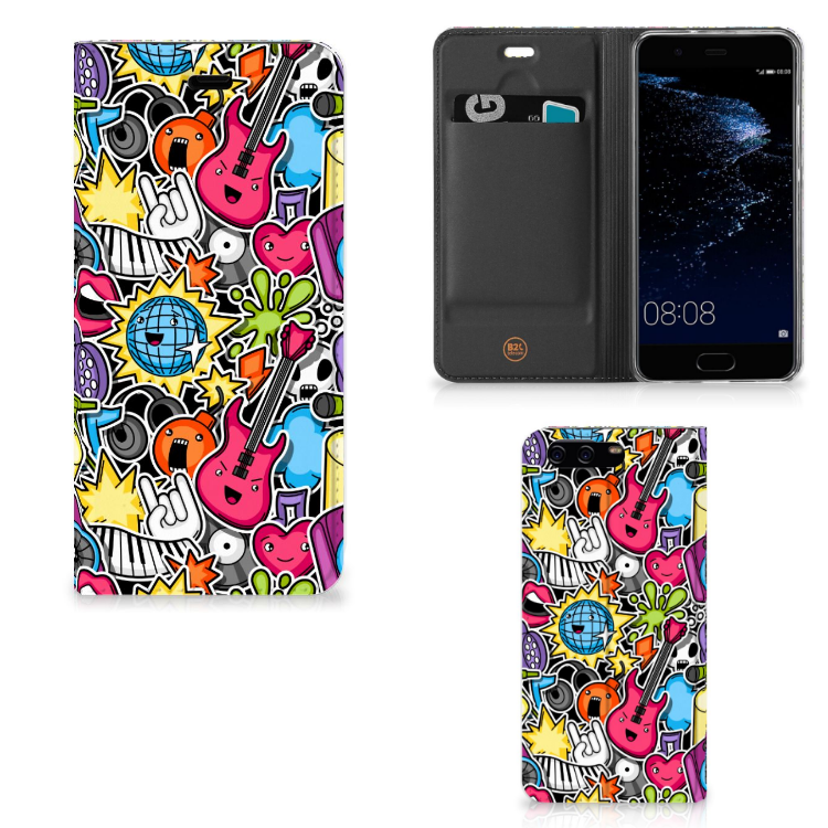 Huawei P10 Hippe Standcase Punk Rock