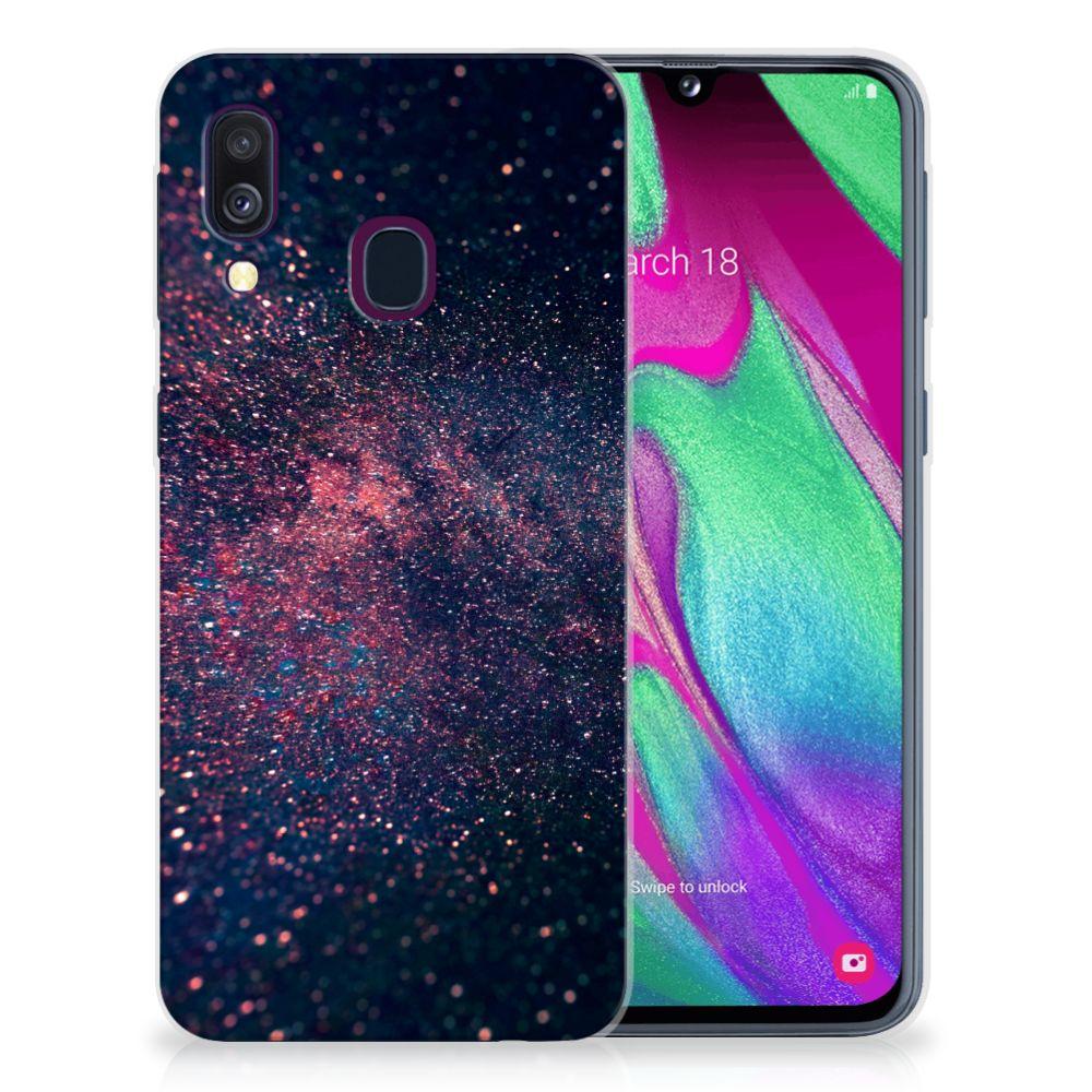 Samsung Galaxy A40 TPU Hoesje Stars