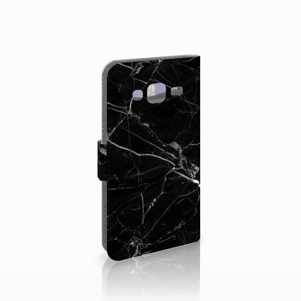 Samsung Galaxy J3 2016 Boekhoesje Marmer Zwart
