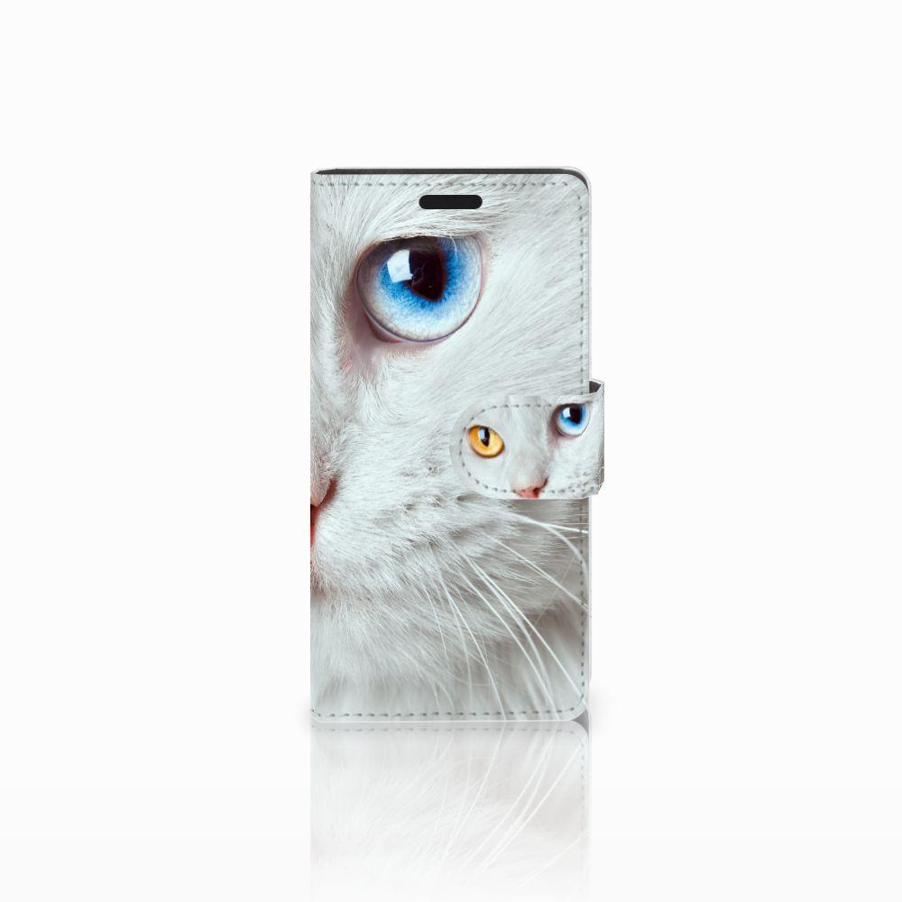 LG Leon 4G Uniek Boekhoesje Witte Kat