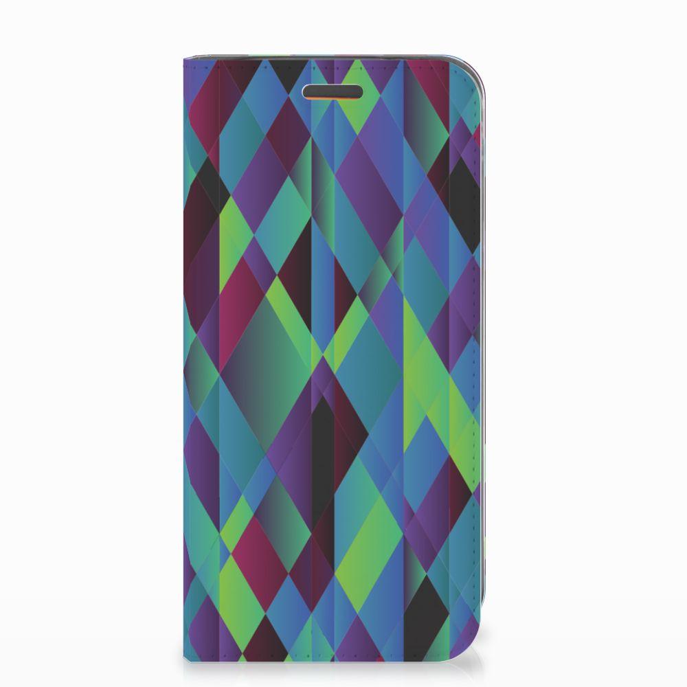 Motorola Moto E5 Play Stand Case Abstract Green Blue