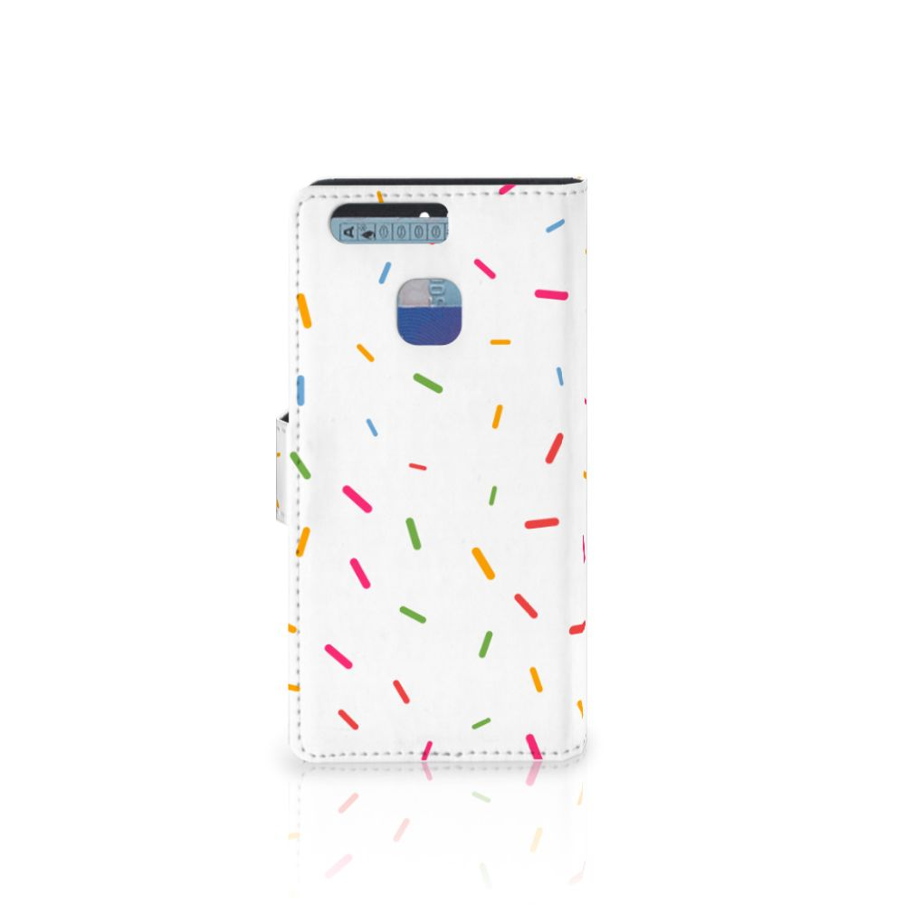 Huawei P9 Book Cover Donut Roze