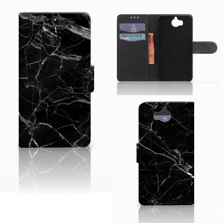 Huawei Y5 | Y6 2017 Bookcase Marmer Zwart - Origineel Cadeau Vader