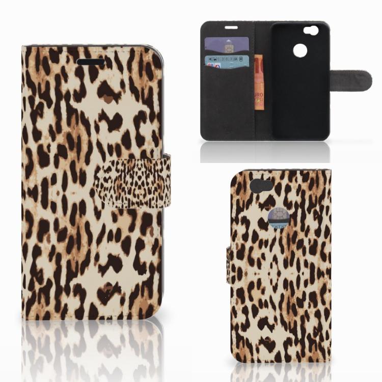 Huawei Nova Telefoonhoesje met Pasjes Leopard