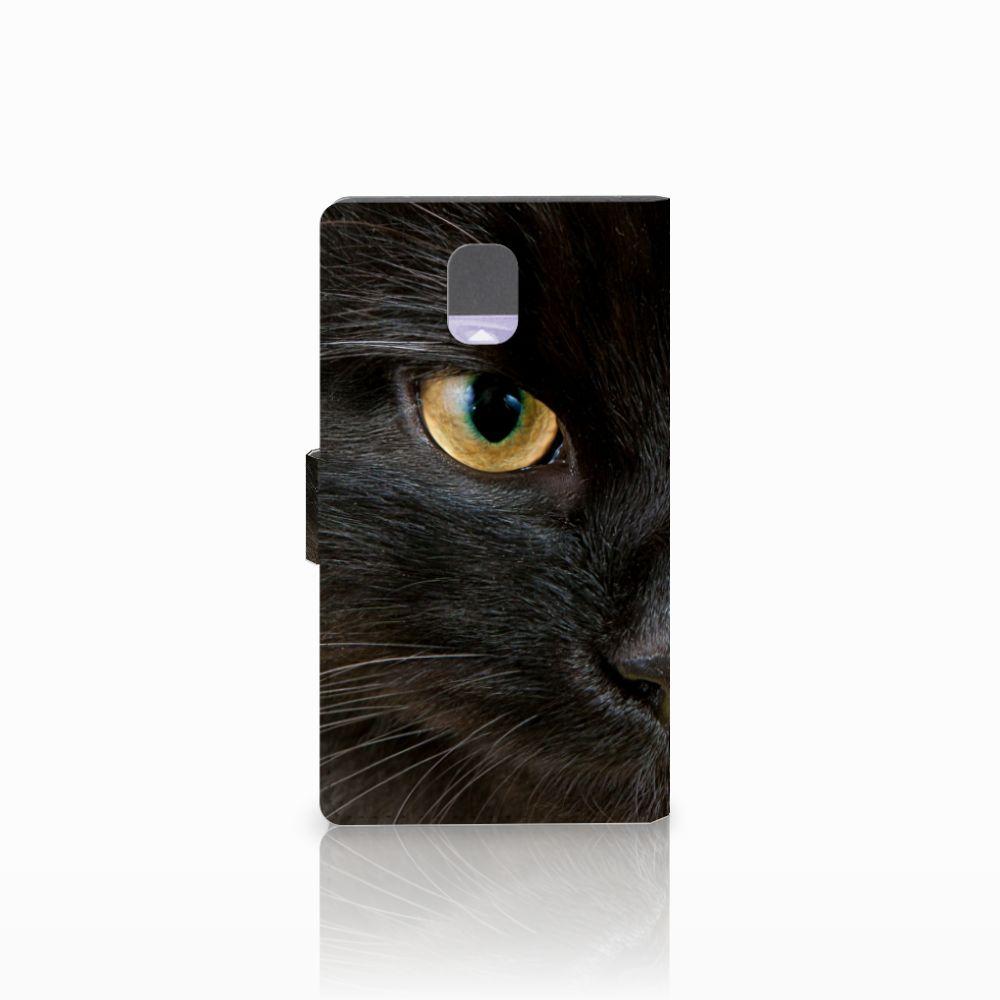 Samsung Galaxy Note 3 Telefoonhoesje met Pasjes Zwarte Kat